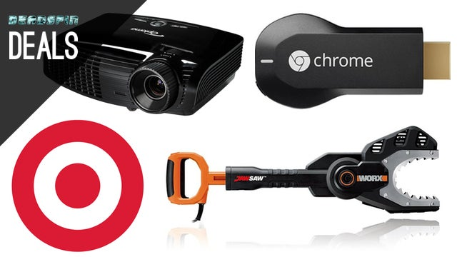 Deals: $10 off $40 at Target, the Ultimate Home Theater, Worx JawSaw