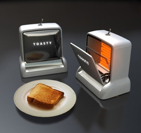 Toasty Toaster Design Gives off Cassette Deck Vibes
