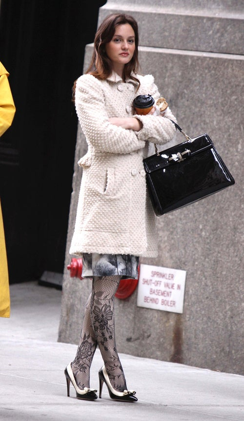 Leighton's Nice Coat & Naughty Stockings