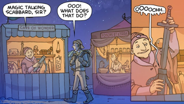 "Raunchy webcomic ""Oglaf"" blends low humor and high fantasy"