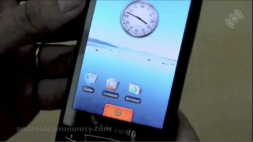First Video of the Samsung I7500 Android Phone