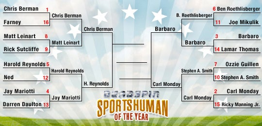 Deadspin SHOTY Tournament: Chris Berman Vs. Harold Reynolds