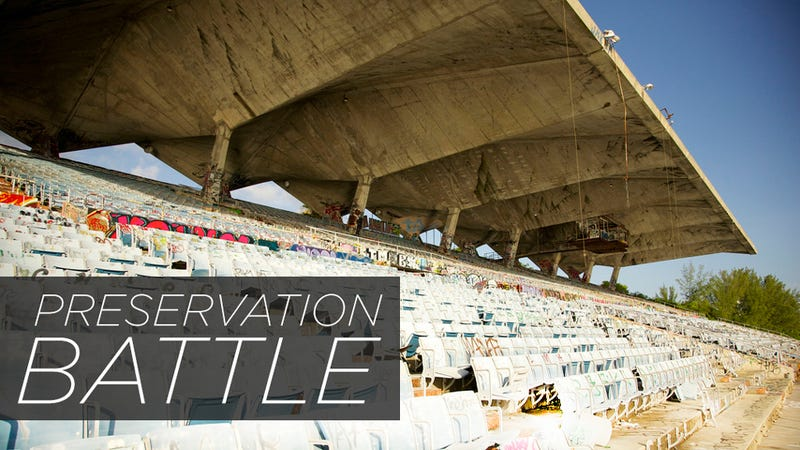 What Should Miami Do With Its Graffiti-Covered Marine Stadium?