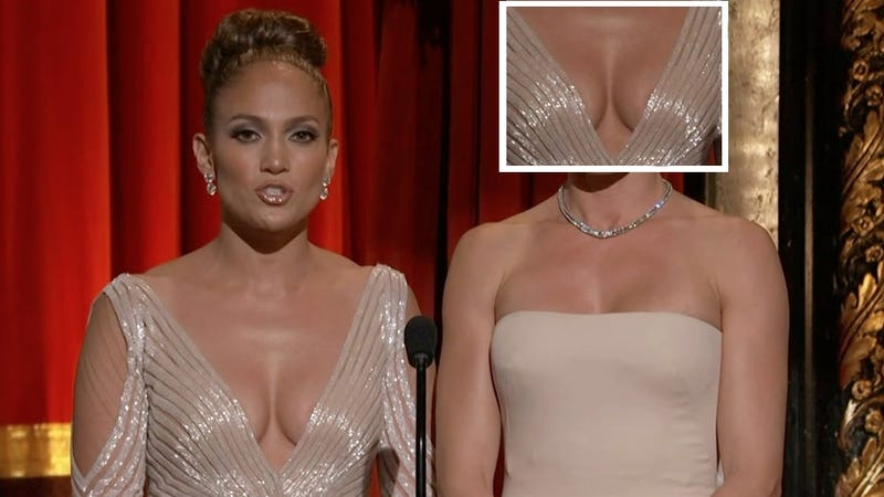 J. Lo's Oscar Dress: Nipple or Shadow?