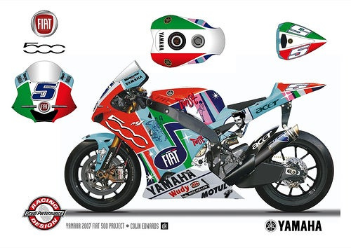Fiat Yamaha Team Gets 500-Themed Livery