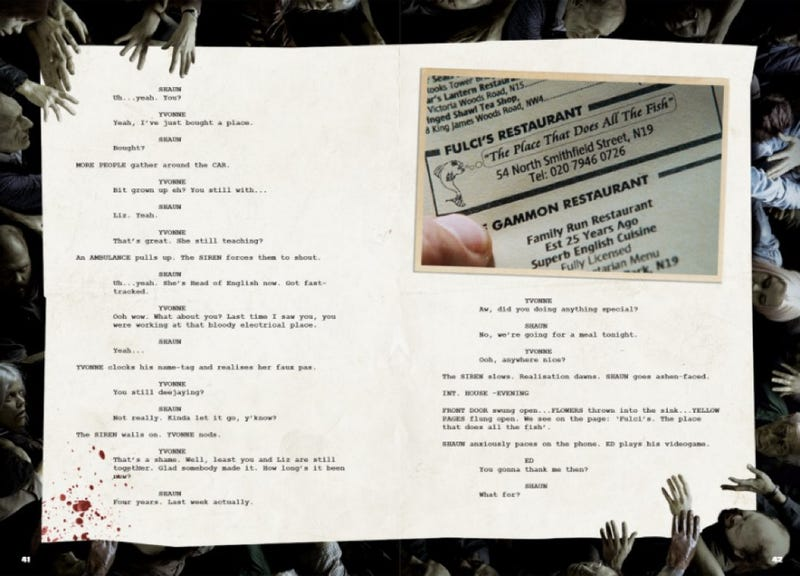 Shaun of the Dead interactive screenplay reveals on-set secrets