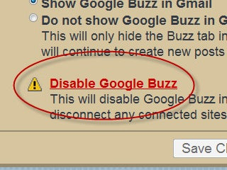 Buzz Settings Page Goes Live in Gmail, Allows Total Disabling