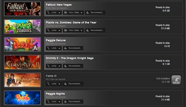 The Games You've Played Most On Steam