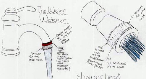Kid-Invented Water Watcher Keeps Close Eye On Your Shower Wastage