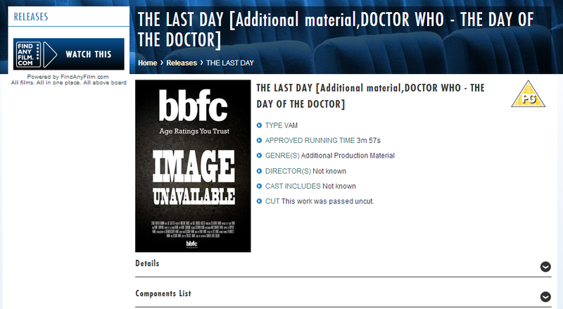 The Day of The Doctor gets a minisode... but what's The Last Day?