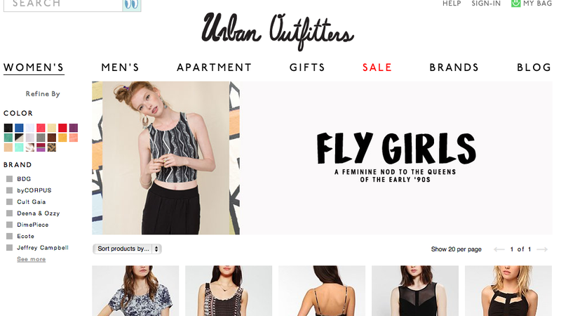 Have You Seen Urban Outfitters' All-White 'Fly Girls'?