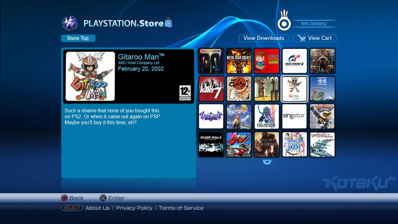 If Only There Were PS2 Games On The PSN...