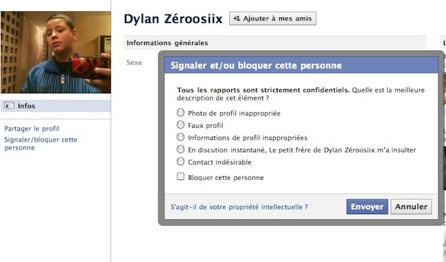 Facebook Hacked to Prank Random French Kid
