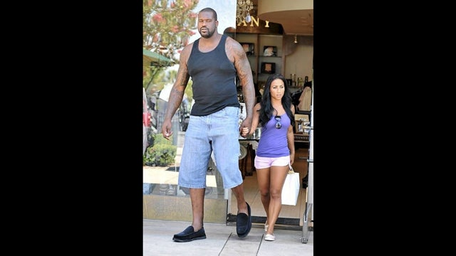 Shaq's New Girlfriend Is Admirably Comically Sized (UPDATE: This Is How They Kiss)