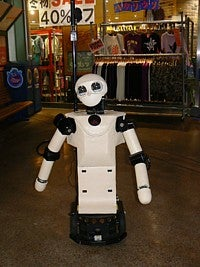 Robovie Robot Helps Lost Shoppers, Creates Trouser Mess in Aisle 4