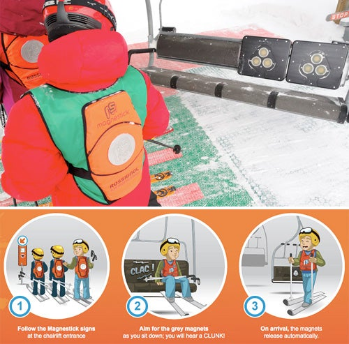 The Magnestick System Straps Your Kids Safely in Ski Lifts Using the Magic of Magnets
