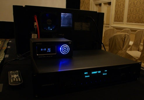 Meridian 10MP Projector Displays on 25-Foot Screen With No Pixelation
