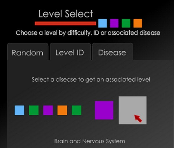 A puzzle game where you help generate data to cure real diseases