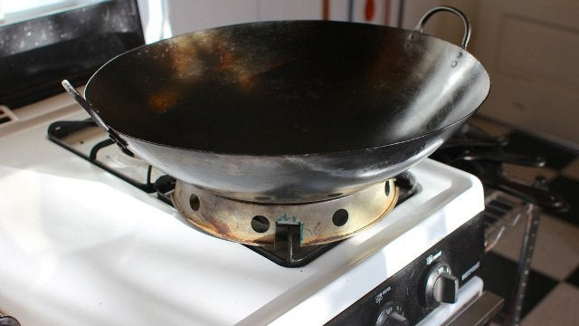 Modify a Wok Ring to Better Fit a Gas Range