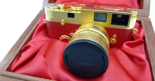 And For Your 60th Anniversary, A Friggin Gold-Plated Leica