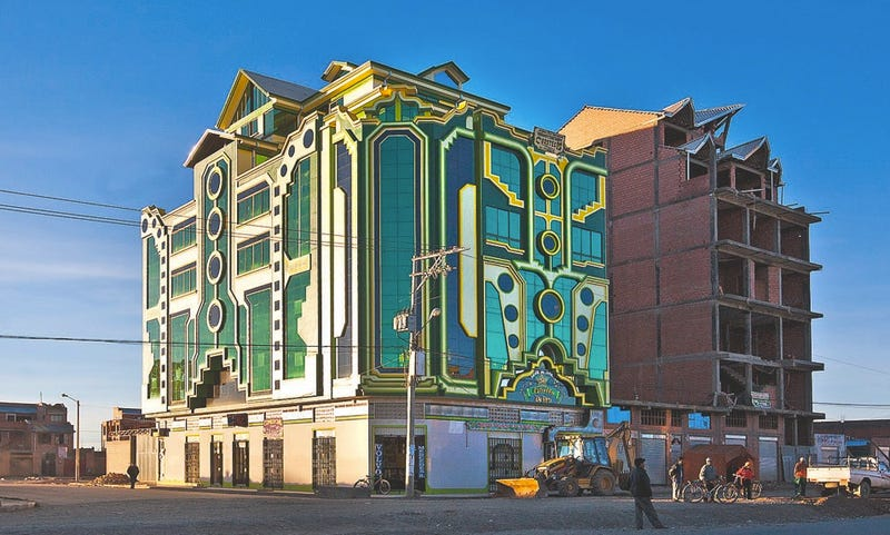 These Brilliantly Colored Bolivian Buildings Look Like Alien Spaceships