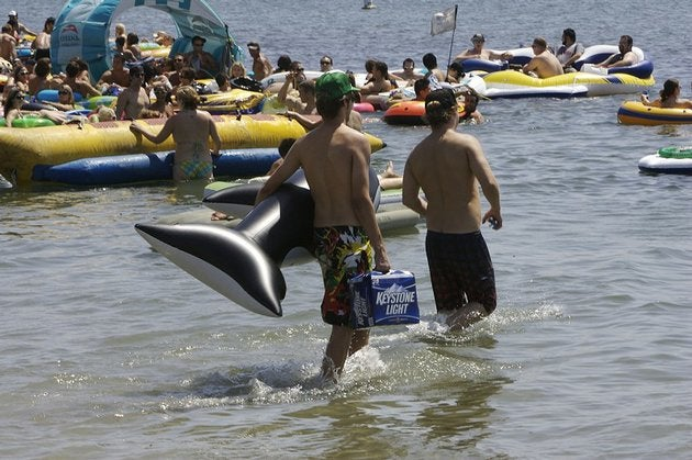San Diego Mulls Totally Awesome Rubber Booze Raft Crackdown