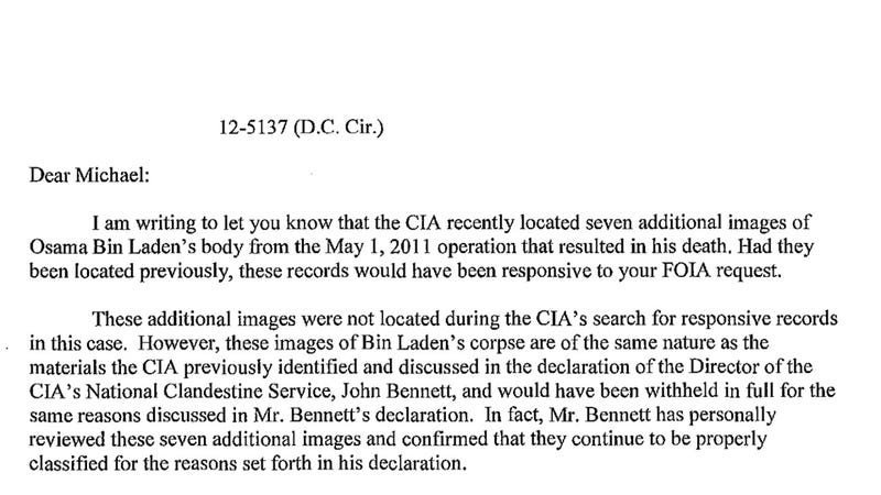 CIA Finds Some Extra Pics of bin Laden's Corpse Lying Around the Office