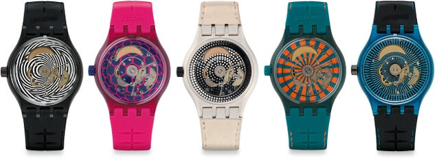 Swatch's Cheapest Self-Winding Watch Has a Bunch of New Looks
