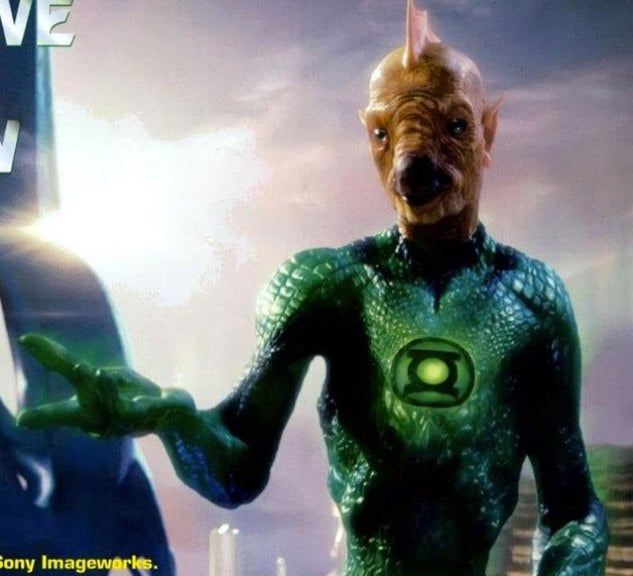 Get all up in the chicken-fish face of Green Lantern's alien Tomar-Re