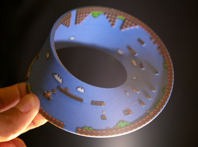 Super Mario Bros. Level 1 Recreated On A...Mobius Strip?