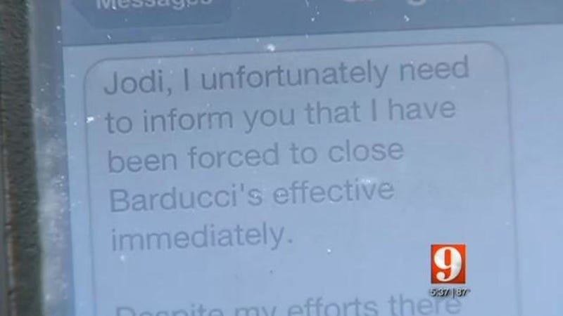 Florida Restaurant Owner Fires Entire Staff via Text Message