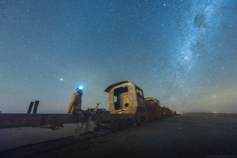 Photos of These Bolivian Salt Flats Perfectly Reflect the Night Sky