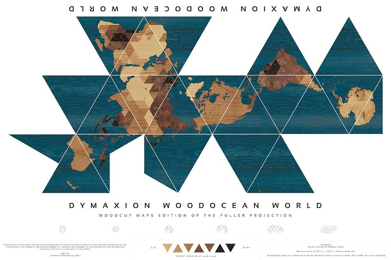 7 Brilliant Reinventions of Buckminster Fuller's Dymaxion Map