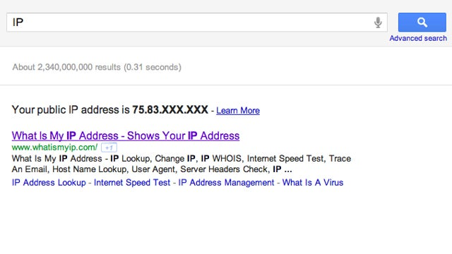 "Get Your External IP Address with a Quick Search for ""IP"""