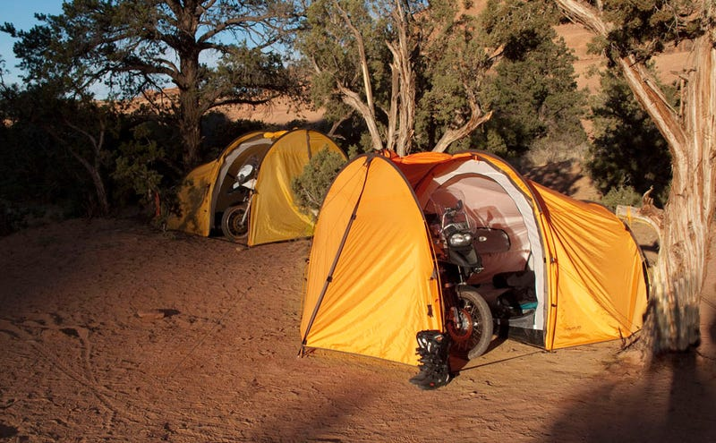 A Tent For You, Your Friend, and Your Motorcycle