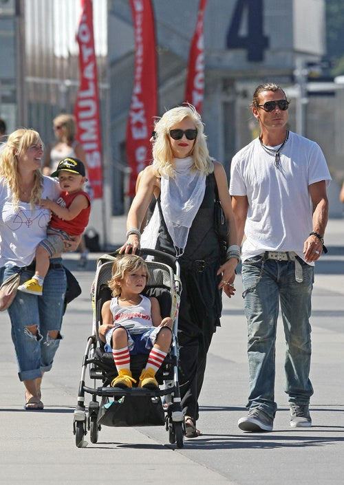 The Street Is A Fashion Runway For Gwen, Gavin & The Kids