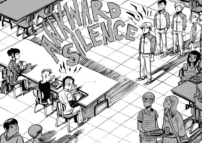 In the webcomic Friends With Boys, a homeschooler finds high school more intimidating than a ghost