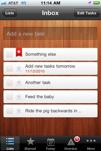 Wunderlist for iPhone Is an Elegant, Syncing To-Do Manager