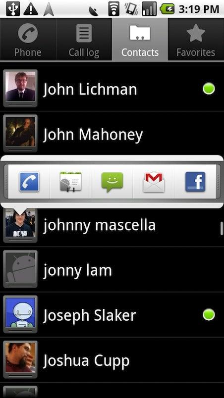 Android 2.0 Screenshot Walkthrough
