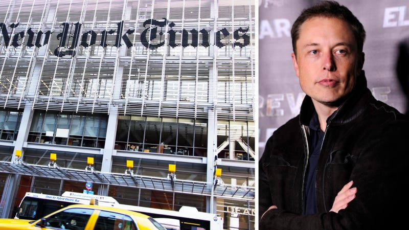 Elon Musk To NYT: Let's 'Bury The Hatchet' In The Fight I Started (Updated)