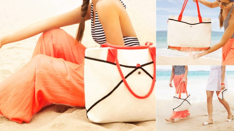 This Smart Beach Bag Keeps the Sand Out of Your Stuff