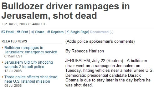 In Which Reuters Assassinates Barack Obama
