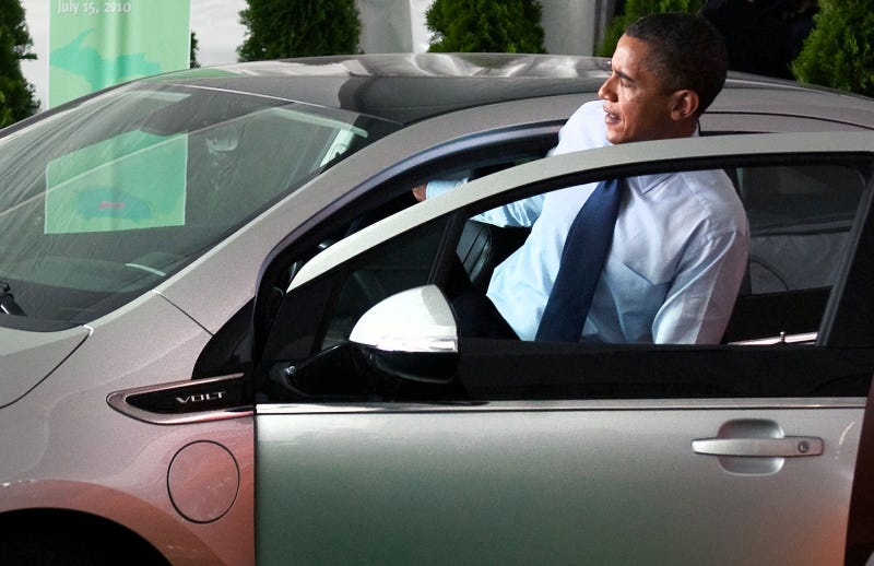 Pres. Obama Gets Into The Best Car Government Money Can Buy