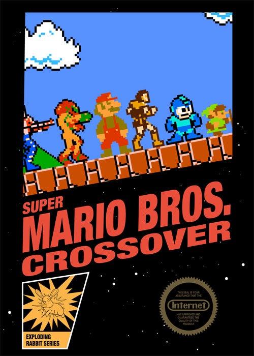 Super Mario Crossover Gets Crossover Box Art