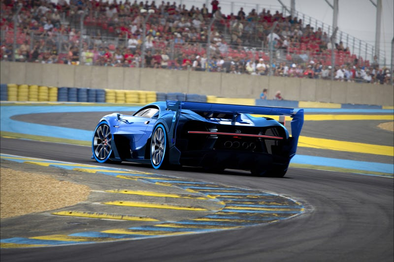 'Bugatti Vision Gran Turismo Concept: The Future Of Bugatti Looks Terrifyingly Awesome' from the web at 'http://i.kinja-img.com/gawker-media/image/upload/s--3hNZEmeo--/c_scale,fl_progressive,q_80,w_800/1430362453496960808.jpg'