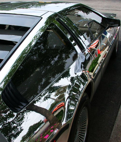 You Can See Yourself In A Mirror Polished DeLorean