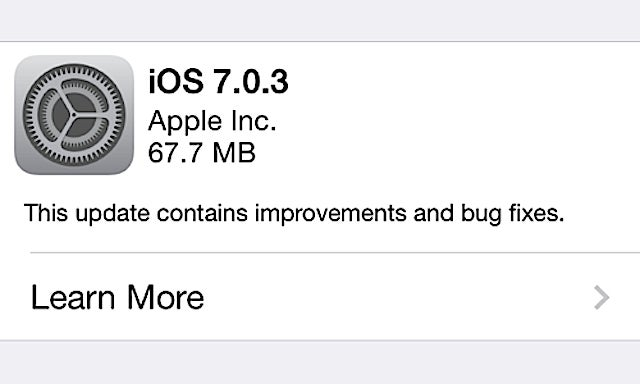 iOS 7.0.3 Released to Fix iMessage Bugs, Calibration Issues, and More