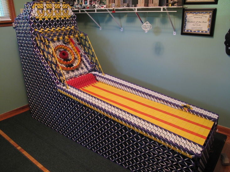 Holy heck, this skee-ball machine made entirely out of K'Nex actually works