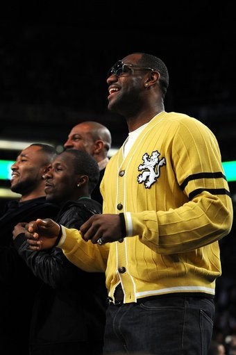 LeBron James and His Yellow Cardigan Vow to Save the Pitiful Dunk Contest