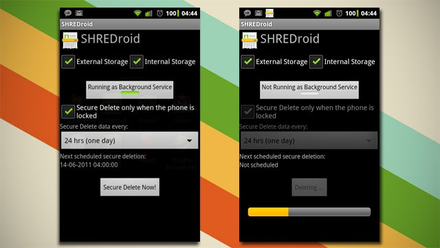 SHREDroid Securely Clears Deleted Data on Your Android Phone
